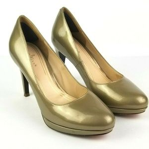Cole Haan NikeAir Classic Gold Pumps
